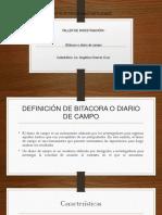 Bitacora o Diario de Campo