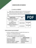 Documentación de Ingresos