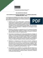 Declaración de Paracas con ocasión del Encuentro Presidencial y III Gabinete Binacional de Ministros Perú - Chile