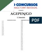 Gabarito - Agepen - Simulado i