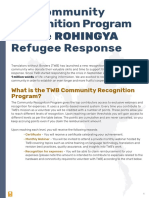Recognition Program Rohingya