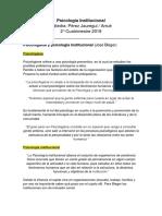 Resumen psicologia institucional