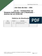 UC136 - Anexo 11 - Comparativo Da Despesa Autorizada Com a Realizada