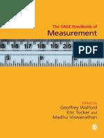 The SAGE Handbook of Measurement