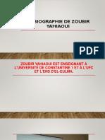 LA Biographie de Zoubir Yahiaoui