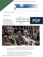 Der Venezianische Adel, Die Wurzel Der Heute Herrschenden Oligarchie – Christ-Michael