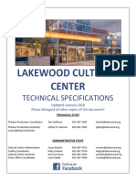LCC Theater Technical Specifications
