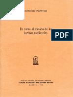 En Torno Al Método de Los Juristas Medievales