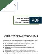 Clase No. 3 Derecho Civil 1 (Diapositivas Atributos de La Personalidad)