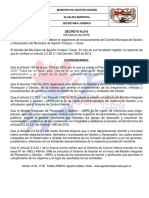 Decreto Comite Municipal Mipg 016