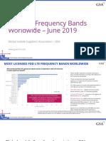 LTE Bands worldwide2019