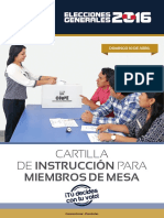 Cartilla  Provincial elecciones 2016 onpe