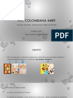 NTC COLOMBIANA 4489 Perfil de Textura