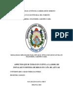 Proyecto en Sistema de Riego en Caña de Azucar