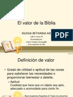 Biblia - El Valor de La Biblia, Iglesia Bethania AIC, Loíza