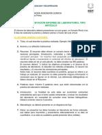 Pautas Para Presentación Informe de Laboratorio 2019-2