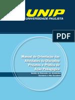 Manual Projetos e práticas de ação pedagógica unip