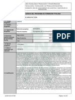 programa de formacion sena tecnico en procesos de manufactura