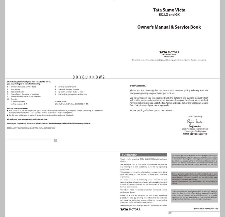 Tata sumo victa manual seat belt headlamp fandeluxe Image collections
