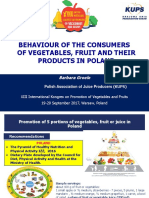 20. BARBARA GROELE, POLAND - Behaviour of the Consumers of Vegetables, Fruit and Their Products in Poland