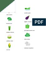 Frutas y Verduras en Ingles