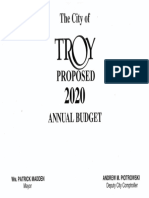 Troy Proposed 2020 Annual Budget