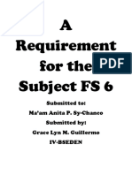 A Requirement for the Subject FS 6 Dlp