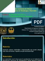 1.- Unidad I Propiedades Mecánicas 2020-1