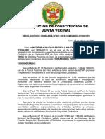 Resolucion de Constitución de Jj.vv Oyon
