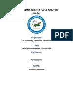 Desarrollo Sostenible y Sus Variables