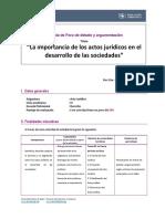 Guia Foro de Debate y Argumentacion Acto Juridico 2019-II