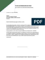 Carta de Autorizacion de Pago