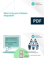 Be Part of Maxim Integrated