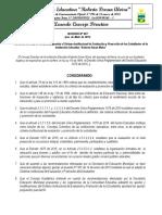 Sistema Institucional de Evaluación Rda 2019