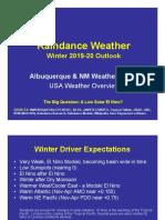 Winter 2019-20 Outlook