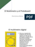 El Multimetro y El Protoboard