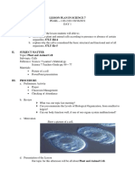 Lesson Plan in Science 7 Plant and Animal Cell d1