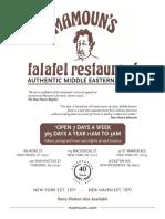 Mamoun menu