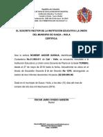 Membrete Oficial 2019
