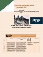 México, configuración histórica y geográfica. Actividad 2. Unidad 2