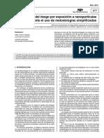 INSHT - Evaluación Nanopartículas