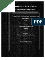 Ensayo Financiamiento Paleteria Y Neveria La Michoacana