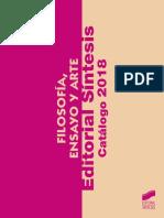 2018 Catálogo Filosofía, Ensayo y Arte