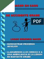 ¿Qué Hacer en Caso de Accidente Grave