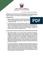 Peruanos en el exterior participarán en elecciones parlamentarias