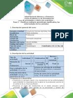 Guía de actividades y rúbrica de evaluación - Paso 2 - Clasificar mediante aprendizaje significativo, las enfermedades de los animales (1).pdf