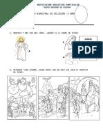 Examen de Religion 3 Años 2019