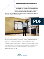 Tips to Find the Best Home Inspection Service