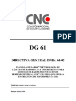 CNC -Directiva General 61 - Radioenlace Interferente