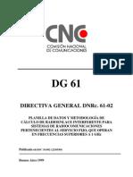 CNC -Directiva General 61 - Radioenlace Interferente
